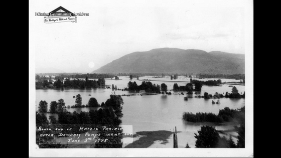 Hatzic Prairie, 1948 Flood